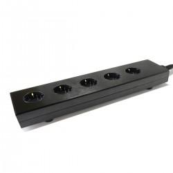 AUDIOPHONICS MPC5 Distributeur secteur Aluminium 5 ports Plaqué Or Black