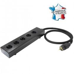 AUDIOPHONICS MPC5 Aluminium Power Distributor 5 sockets Gold Plated Black