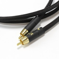 ELECAUDIO DARK CRYSTAL Câble de Modulation RCA-RCA Cuive OFC (La paire) 1m