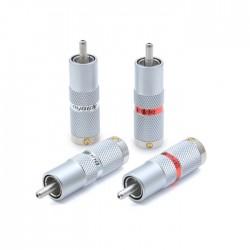 OYAIDE SLSC RCA Plug 4N Pur Silver Ø9mm (Set x4)