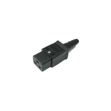 Connecteur IEC 20A C19 femelle Format Américain Ø12mm