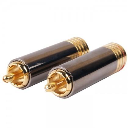 W&M Audio CS-1014B Connecteurs RCA Isolé FEP (la paire) Ø 10mm