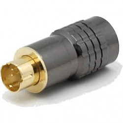 Connecteur S-Vidéo plaqué or corps métallique