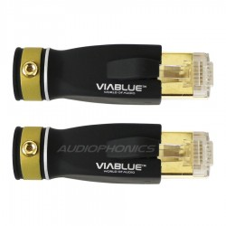VIABLUE T6s RJ45 Plug CAT6 Gold Plated 24K (Pair)