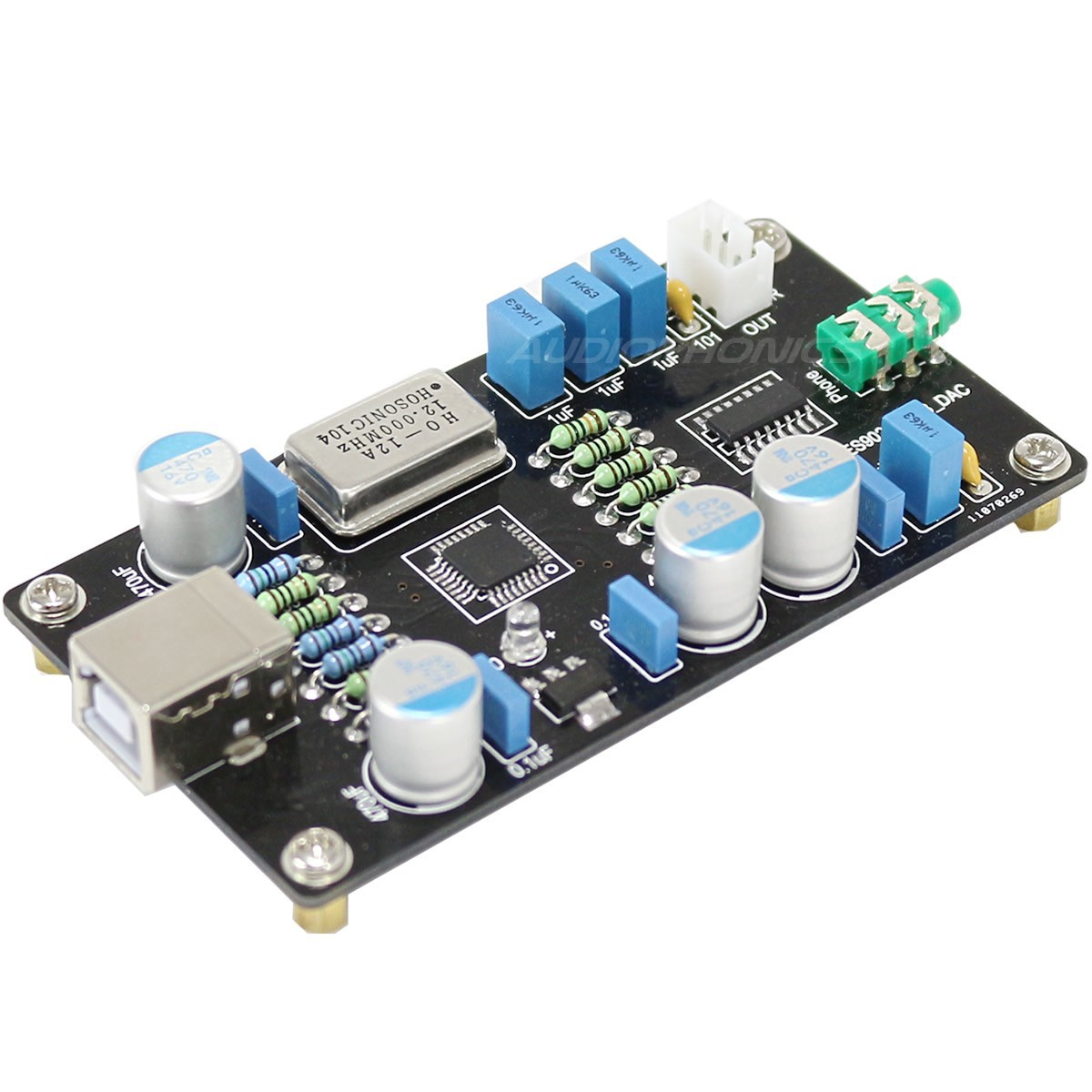 DIY USB DAC Board ES9023 PCM2706 16bit / 44khz
