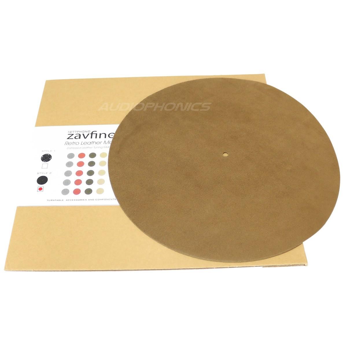 1877PHONO Retro Leather ST2 Couvre plateau Cuir véritable pour platine vinyle Plein
