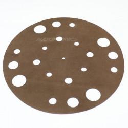 1877PHONO Retro Leather Couvre plateau / Support absorbant Cuir pour vinyle
