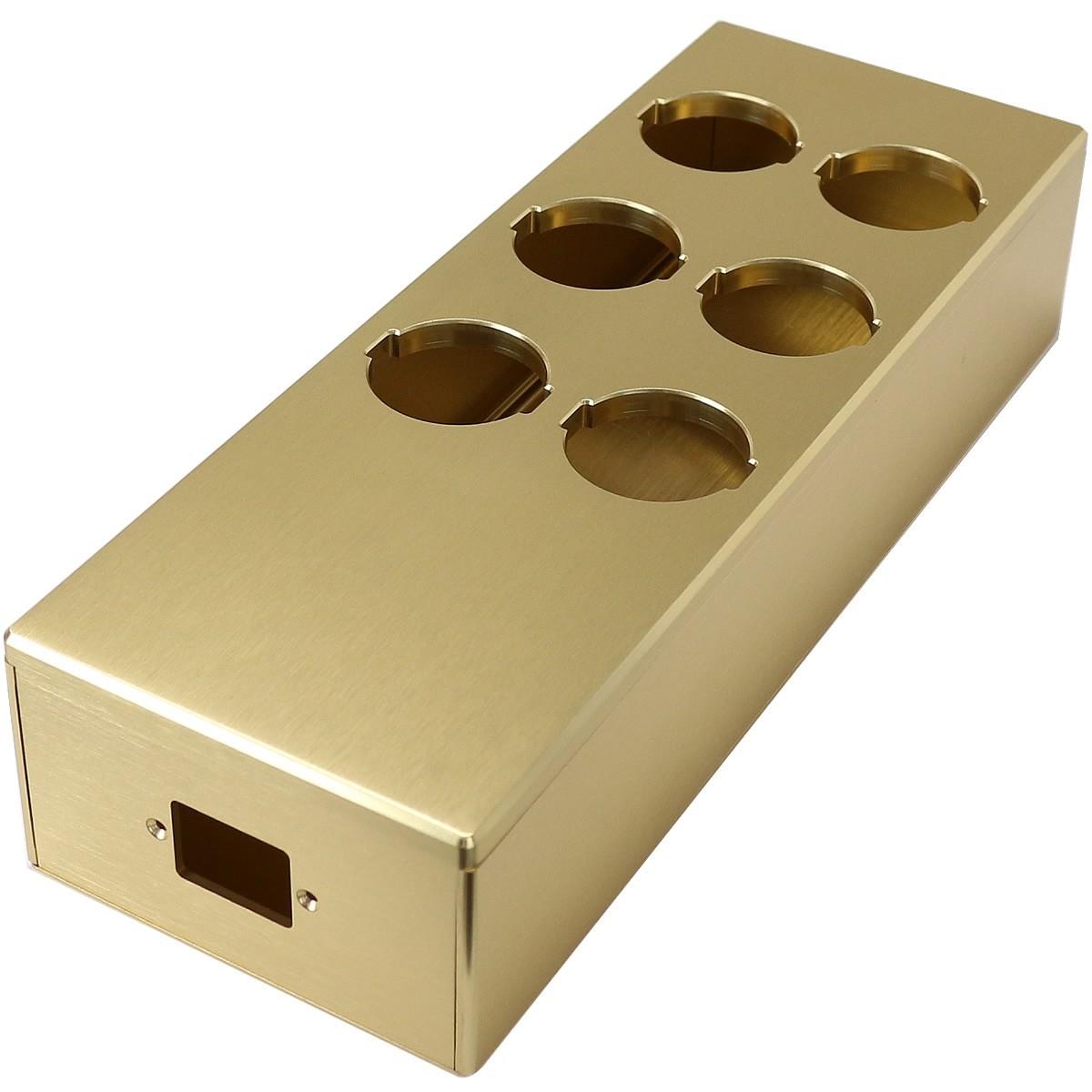 AUDIOPHONICS MPC6 V2 GOLD Aluminum Distributor bare 6 sockets location