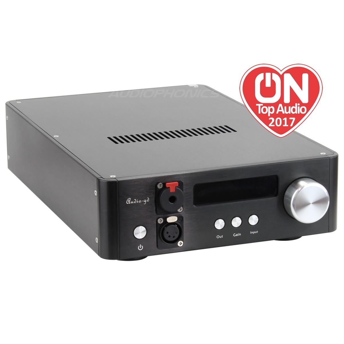 AUDIO-GD NFB-1AMP 2019 Discrete Headphone Amplifier / Preamplifier Class A Black