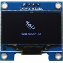 "White OLED 1.3"" Screen 128X64 SH1106 interface I2C"