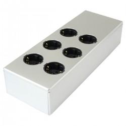 AUDIOPHONICS MPC6 V2 Power distributor 6 ports Aluminum FURUTECH Silver