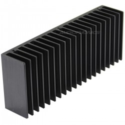Heat Sink Aluminium Black 160x32x62mm