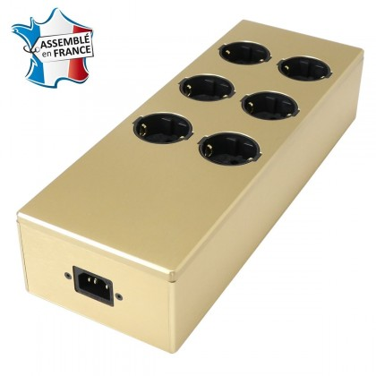 AUDIOPHONICS MPC6 V2 Power distributor 6 ports Aluminum FURUTECH Gold