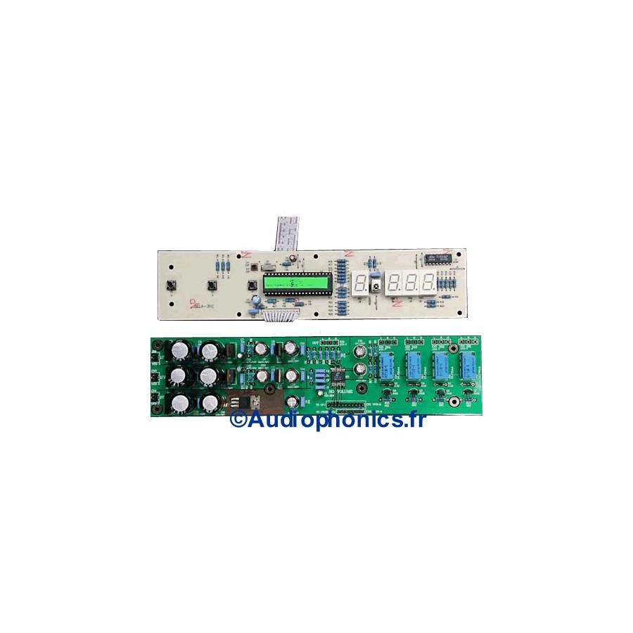 Lite V3310 2ch 2 Way Volume Control Module Cs3310 Audiophonics Led Vu Meter Circuit Also Rca Universal Remote Tv Code List Contrleur De Voies