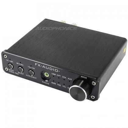 FX-AUDIO D302 Amplificateur numérique Class D STA326 stéréo 2x 50W / 8 Ohm Noir