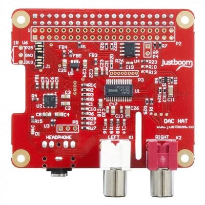 JustBoom DAC HAT DAC PCM5122 pour Raspberry Pi 3 / Pi 2 / A+ / B+