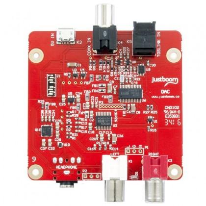 JustBoom DAC PCM5122 24bit 96kHz SPDIF Optical Coaxial input