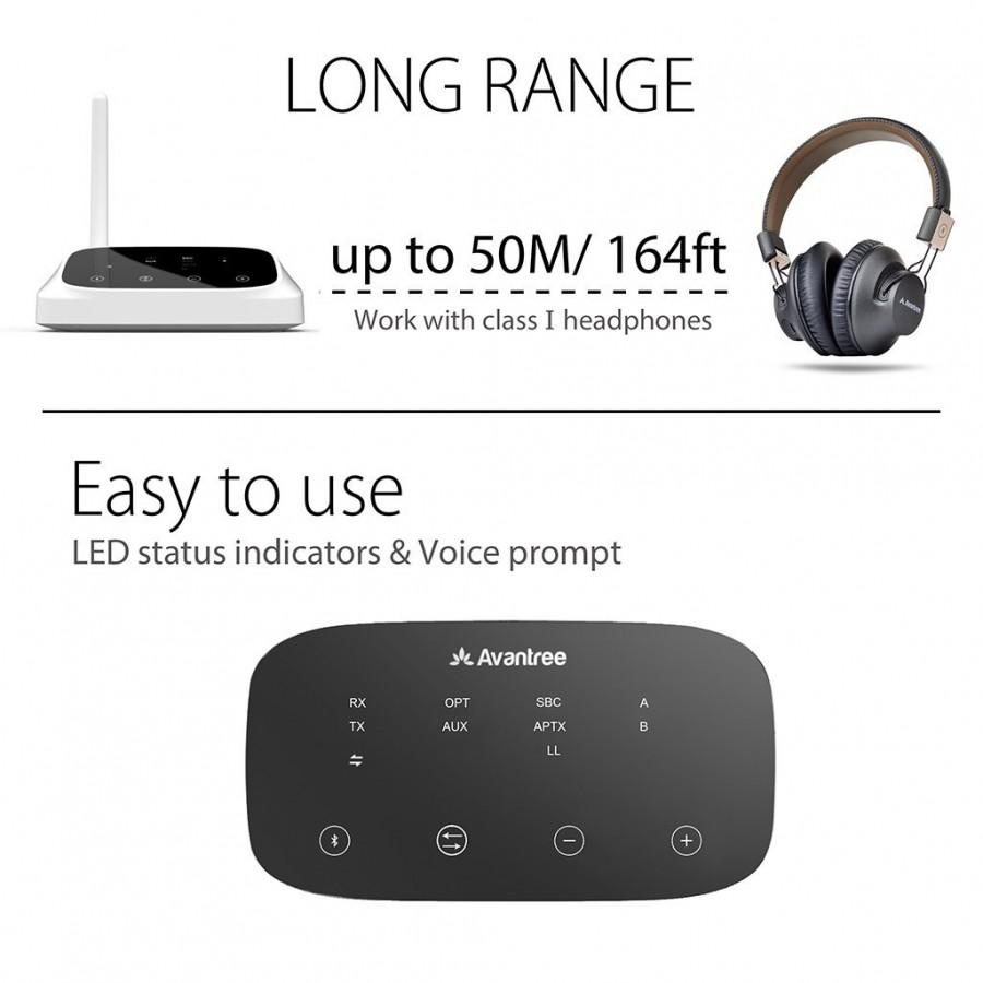 Transmetteur Et Audio Oasis Avantree Récepteur 1 4 Aptx Bluetooth EWH29ID