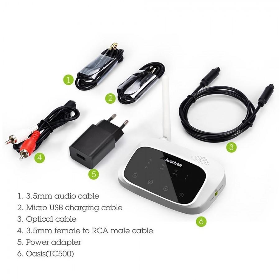 AVANTREE OASIS Bluetooth 4 1 aptX Audio Transmitter and
