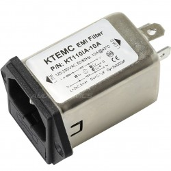 Embase Filtre Secteur IEC EMI / RFI 230V 10A avec Porte Fusible