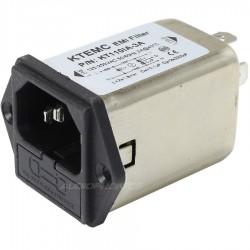 Embase Filtre Secteur IEC EMI / RFI 230V 3A avec Porte Fusible