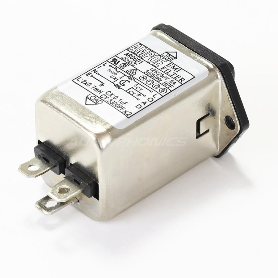 Iec Base Emi Rfi Noise Filter 230v 6a With Fuse Holder Audiophonics Thread Wiring A Panasonic Relay