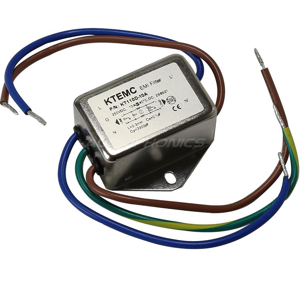 Filtre Secteur EMI / RFI 230V 3A avec Câbles