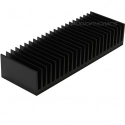 Heat Sink Radiator Black Anodized 175x60x33mm Black