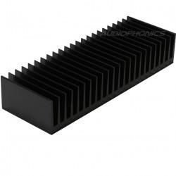 Radiateur Dissipateur Thermique Anodisé 175x60x33mm Noir