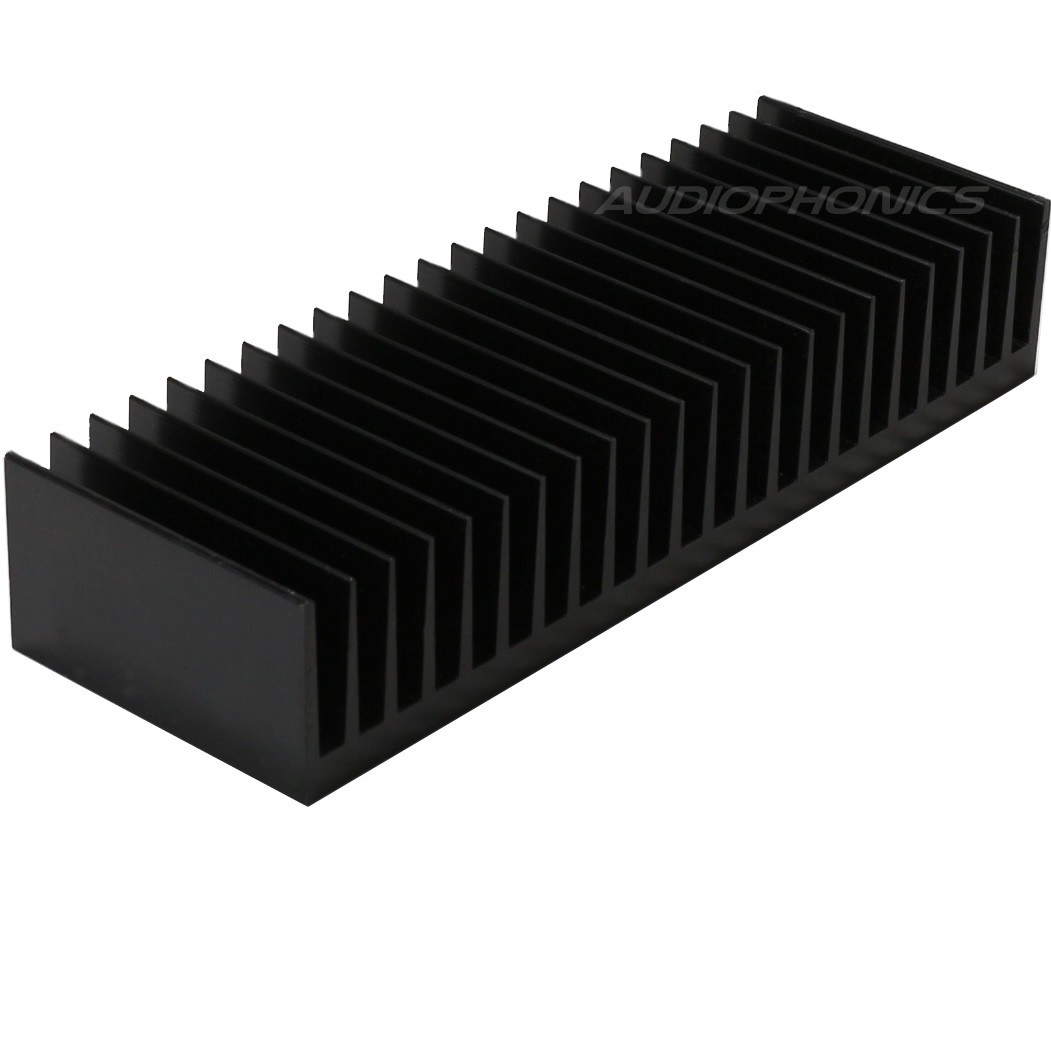 Heat Sink Radiator Black Anodized 176x60x33mm Black
