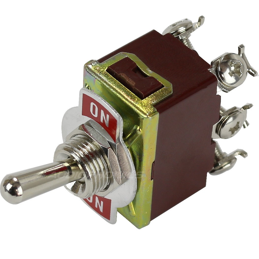 2 Poles 2 Positions Aviation Type Toggle Switch 6 Pins ON-ON 250V 15A