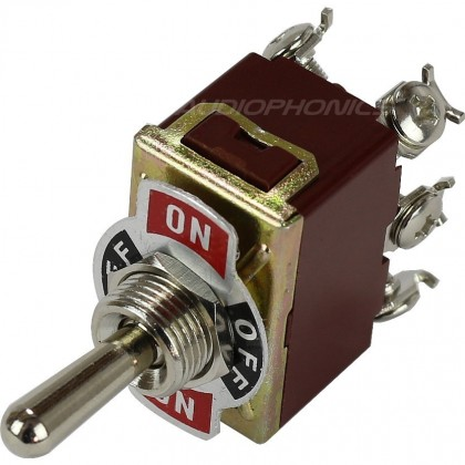 Aviation type Toggle Switch 2 pole 2 positions 250V 15A