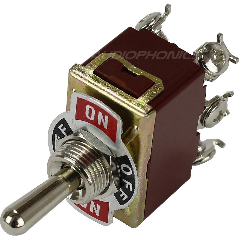 2 Poles 3 Positions Aviation Type Toggle Switch 6 Pins ON-OFF-ON 250V 15A