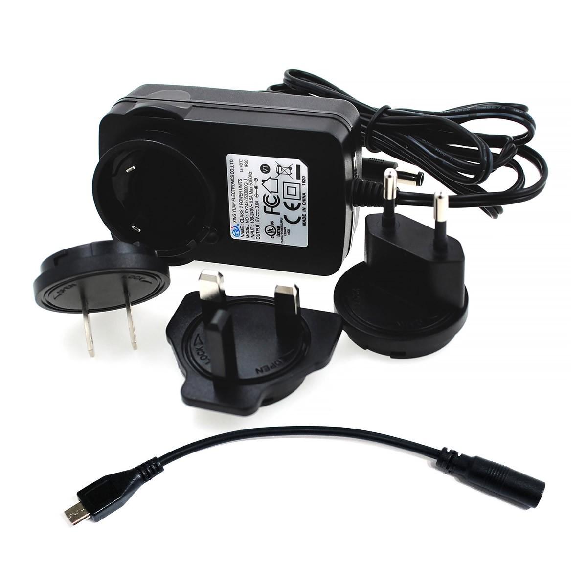 ALLO Adaptateur Secteur Alimentation 5V / 3A DC + Micro USB