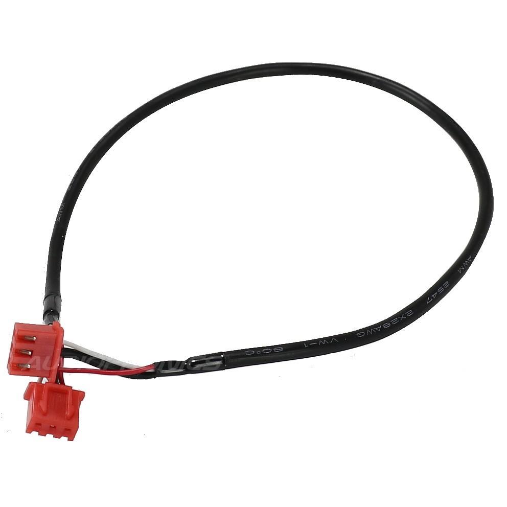 Cordon XH blindé avec connecteur 3 pôles noir 30cm (unité)