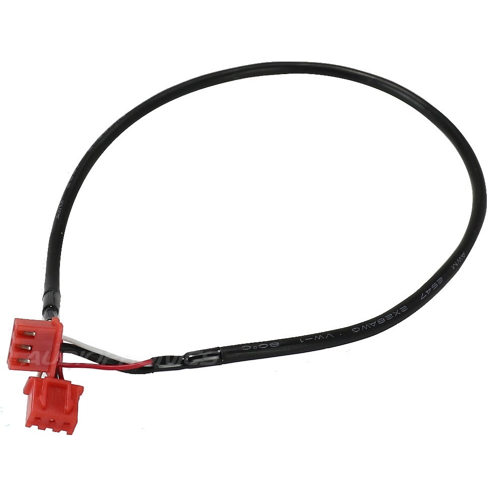 XH shielded Cable with connector 3 poles black 30cm (unit)