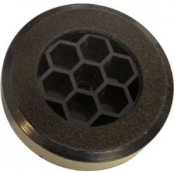 Pied en plastique noir 60x14mm (Unité)