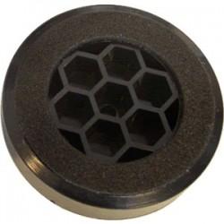 Pied Plastique 60x14mm Noir (Unité)
