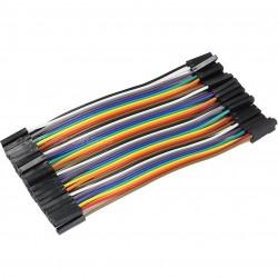 Cavaliers flexibles plaque d'essai connecteurs femelle / femelle 12cm (Set x40)