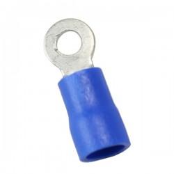 Cosses à œillet isolées bleu Ø3.5mm (x10)