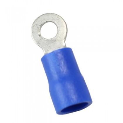 Cosses à œillets isolée bleu Ø 3.5mm (x10)