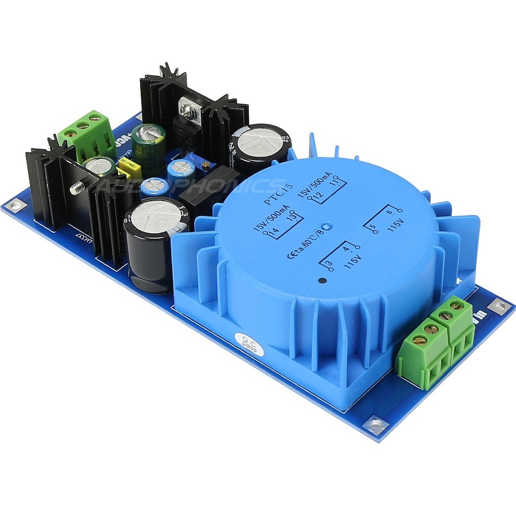 Linear Power supply Module regulated DC +/- LM317T / LM337 1.25V / 18V 0.5A