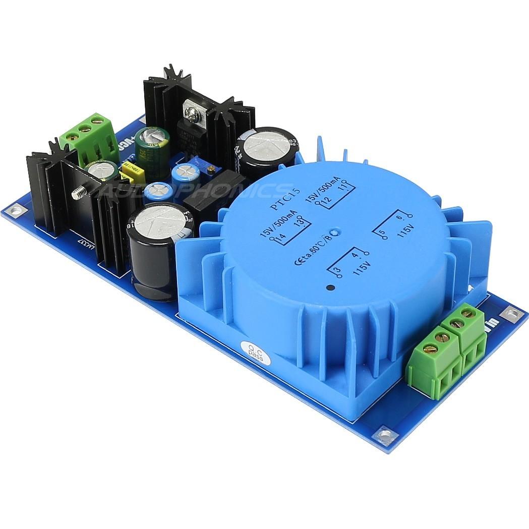 Module d'Alimentation linéaire DC régulé LM317T / LM337 +/- 1.25V / 18V 0.5A