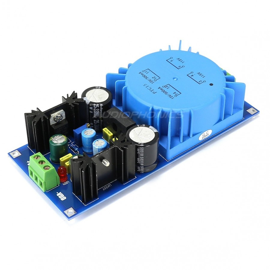 Linear Power Supply Module Regulated Dc Lm317t Lm337 125v Usb Battery Replacement By Lm317 With Heat Slug 125 36v 7a