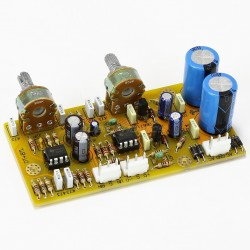 Preamplifier module with volume / bass control NE5532 DIP8