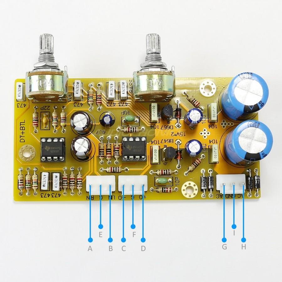 Module Préamplificateur avec contrôle de tonalité grave AOP NE5532