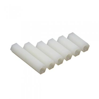 Entretoises Nylon femelles M3x8mm (x10)