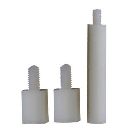 Entretoises Nylon Femelles / Mâles M3x8+6mm (x10)