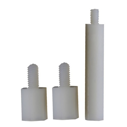 Entretoises Nylon Mâle / Femelle M3x8 + 6mm (x10)