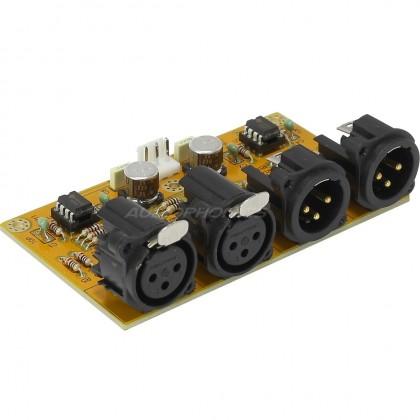 Circuit buffer de symétrisation et désymétrisation RCA vers XLR / XLR vers RCA